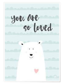 Premium-Poster  you are so loved - Mintgrün - m.belle