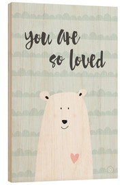 Holzbild  You are so loved - Mint - m.belle