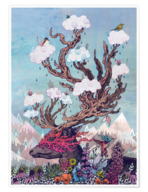 Poster  Journeying Spirit (deer) - Mat Miller