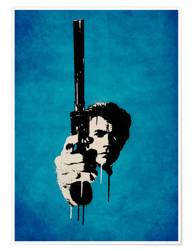 Premium-Poster Clint Eastwood - Dirty Harry