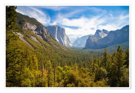 Premium-Poster Yosemite Valley, USA