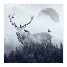 Premium-Poster  deer autumn - Peg Essert