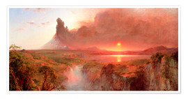 Poster  Cotopaxi - Frederic Edwin Church