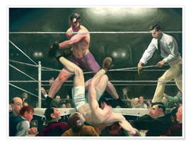 Poster  Dempsey und Firpo - George Wesley Bellows