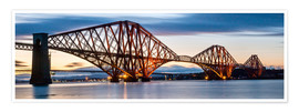 Poster Forth Bridge, Edinburgh, Schottland