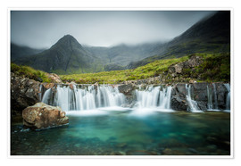 Premium-Poster  The Fairy Pools, Glen Brittle, Skye, Schottland - Markus Ulrich