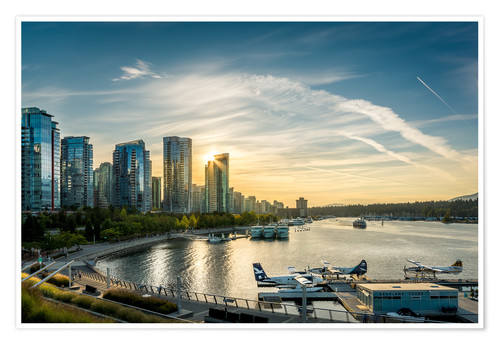 Premium-Poster Vancouver Harbour Flight Center