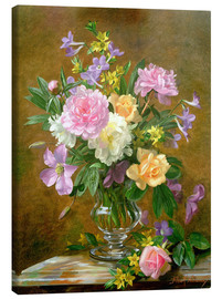 Leinwandbild  Vase mit Blumen - Albert Williams