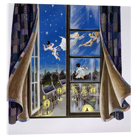 Acrylglasbild  Peter Pan Illustration - Anne Grahame Johnstone