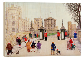 Holzbild  Windsor Castle Hill - Gillian Lawson