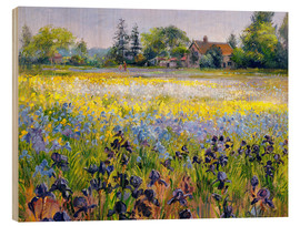 Holzbild  Blumenfeld - Timothy Easton