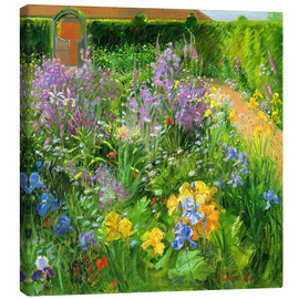 Leinwandbild  Blumengarten - Timothy Easton