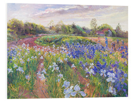 Hartschaumbild  Blumenfeld - Timothy Easton