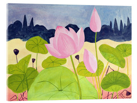 Acrylglasbild  Lotus in der Garrigue, 1984 - Marie Hugo
