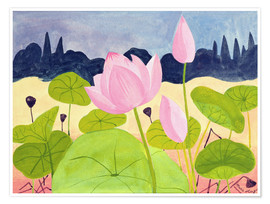 Premium-Poster  Lotus in der Garrigue, 1984 - Marie Hugo