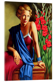 Acrylglas  GIRL WITH THE SCARAB RING - Catherine Abel