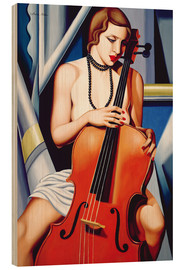 Holzbild  WOMAN WITH CELLO - Catherine Abel