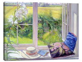 Leinwandbild  Leseplatz am Fenster - Timothy Easton