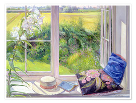 Premium-Poster  Leseplatz am Fenster - Timothy Easton