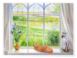 Premium-Poster  Katzen am Fenster - Timothy Easton