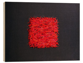 Holzbild  Chillies - Lincoln Seligman