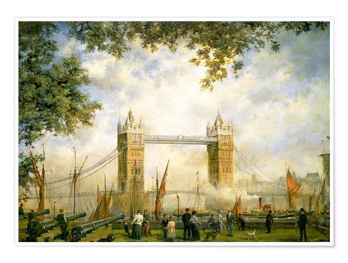 Premium-Poster Tower Bridge Aussicht vom Tower of London