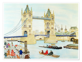 Premium-Poster  Tower Bridge, London - Gillian Lawson