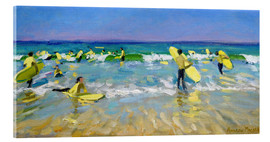 Acrylglasbild  Surfschule in St. Ives - Andrew Macara