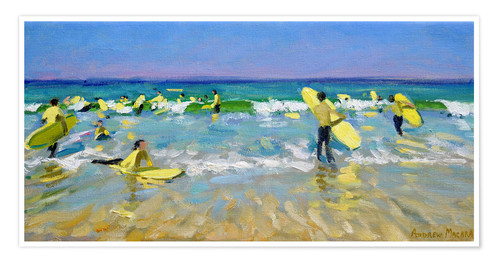 Premium-Poster Surfschule in St. Ives
