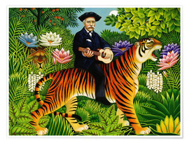 Premium-Poster Henry Rousseau´s Traum