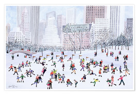 Poster  Skating Rink, Central Park, New York, 1994 - Judy Joel