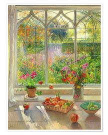 Poster  Blick in den Garten - Timothy Easton