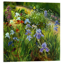 Acrylglasbild  Blumenbeet - Timothy Easton