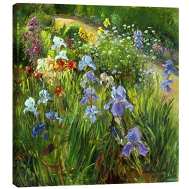 Leinwandbild  Blumenbeet - Timothy Easton