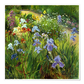 Premium-Poster  Blumenbeet - Timothy Easton