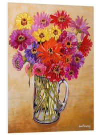 Hartschaumbild  Zinnias, 2010 - Joan Thewsey