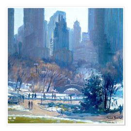 Premium-Poster  Winter in Central Park, New York, 1997 - Julian Barrow