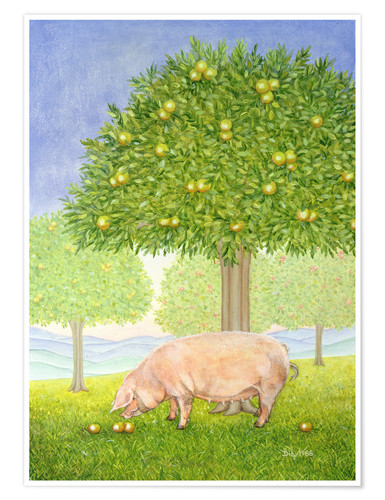 Poster Orchard Pig