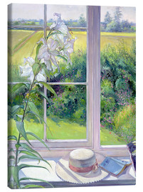 Leinwandbild  Leseecke im Fenster, Detail - Timothy Easton