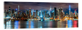 Acrylglasbild  NEW YORK CITY - Skyline Panorama - Sascha Kilmer