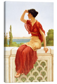 Leinwandbild  Das Signal - John William Godward