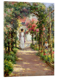 Acrylglasbild  Sommer im Garten - William Kay Blacklock