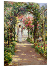 Hartschaumbild  Sommer im Garten - William Kay Blacklock