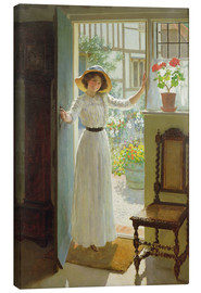 Leinwandbild  An der Haustür - William Henry Margetson