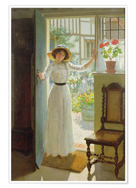 Premium-Poster  An der Haustür - William Henry Margetson