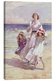 Leinwandbild  Fröhlicher Tag am Meer - William Kay Blacklock