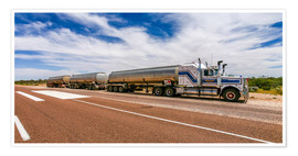 Premium-Poster  Road Train Australia - Thomas Hagenau