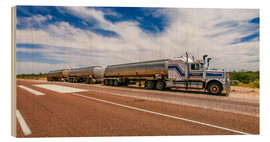 Holzbild  Road Train Australia - Thomas Hagenau