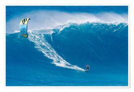 Premium-Poster  Auf dem Kiteboard in Hawaii - MakenaStockMedia