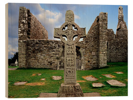 Holzbild  Clonmacnoise in Irland - The Irish Image Collection